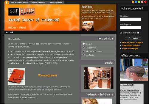 Site Internet Salon de Coiffure Sat Elite Coiffure