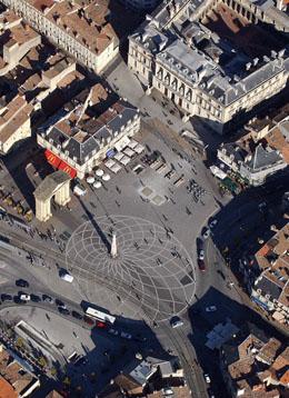 Vue aérienne place de la Victoire à Bordeaux